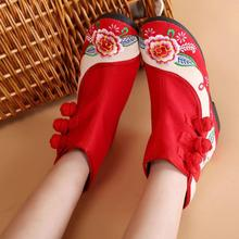 Old Beijing shoes embroidered shoes women folk style shoes with flat spring new boots Children Costume Shoes scutellariabarbata