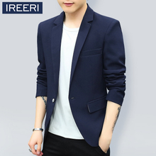 Men's casual suit jacket handsome young Korean slim single small suit thin coat tide of young students