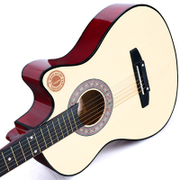 Guitar primary 38 inches unisex beginners plywood red classic wood black blue folk portal link