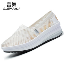 2017 summer shoes breathable shoes with thick white nurse shoes and women shoes all-match white shoes pedal lazy
