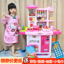 Little 伶 children play kitchen toy set simulation kitchen cook girl girl puzzle cooking 3-6 years old 7