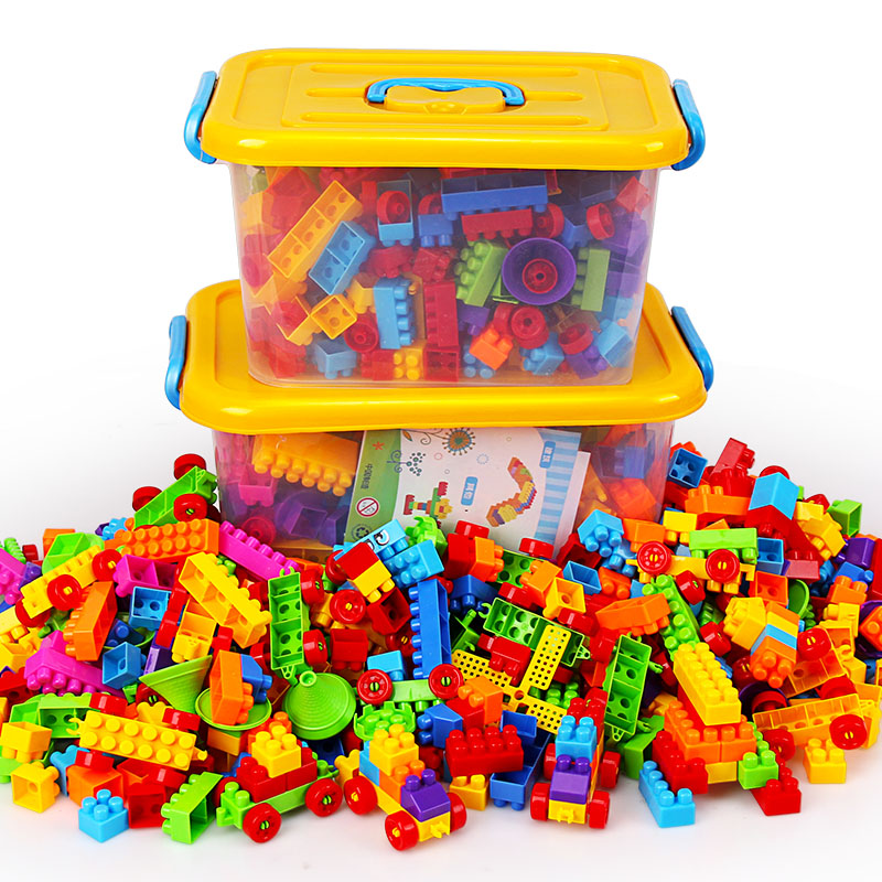 The building blocks baby toys children large plastic particles assembled pincha 1-3-5-6 years of age