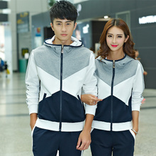 Couture spring 2017 new Korean fashion show thin sweater suits casual baseball uniform two piece tide