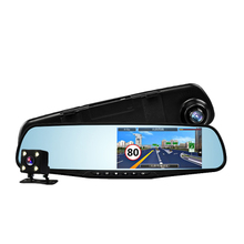 Car rearview mirror cec drive recorder dual lens ultra HD night vision with electronic dog scene