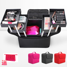Manicure beauty makeup bag Manicure tattoo portable makeup skincare cosmetic bags Aluminum Alloy tool