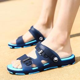 凉鞋男士拖鞋男夏季一字拖鞋男凉拖鞋浴室内外沙滩鞋防滑洞洞鞋潮