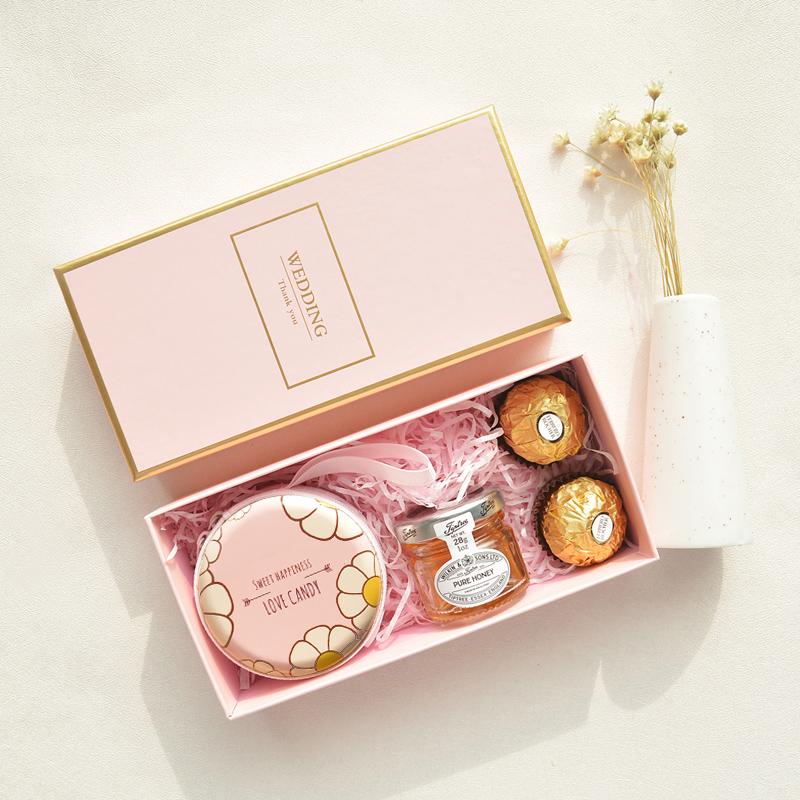 多囍优品婚礼喜糖盒子喜糖盒包装盒伴手礼小礼品礼盒满月回礼礼物