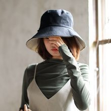 Fisherman hat female summer Korean version of the wild Japanese autumn and winter sun hat double-sided sunscreen chic literary summer sun hat