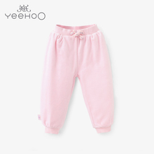 British Girls Pajamas winter children Home Furnishing female baby pants and warm pants pants H 154259