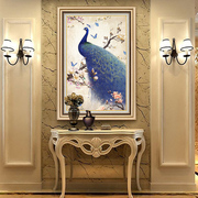 Entrance decorative continental vertical atmospheric paintings simple European style home Peacock the living room hallway hallway mural