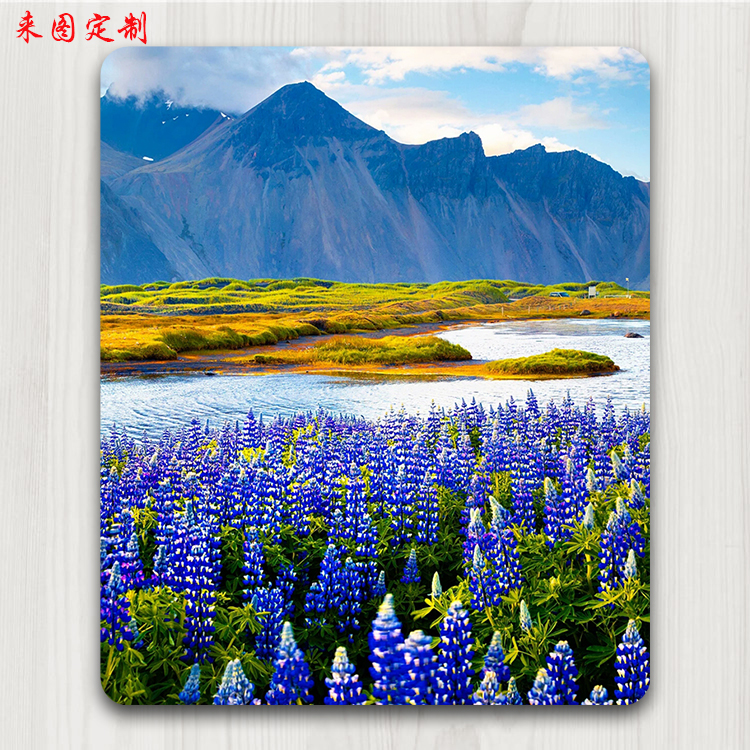 Mouse pad, small lovely girl, creative personality to map customized, logo custom-made photo mountain Lavender