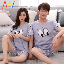 2020men women Couple Lover Pajamas Sets t-shirt Shorts woman
