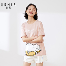 Samma short sleeve T-shirt for women 2020 summer new cartoon cute illustration top print ins fashion intimate t-shirt female
