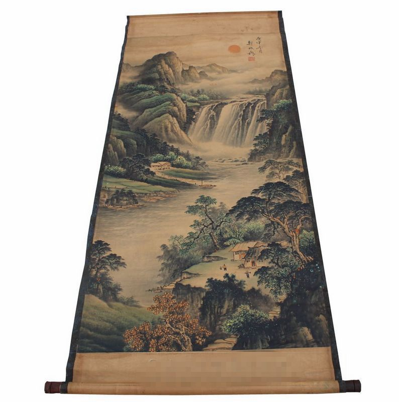 Boutique one yuan shot is coming to an end, antique painting, painting, guest landscape painting, Zheng Banqiao new landscape map