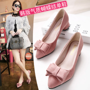 2017 new female shoes spring spring shoes shoes all-match in Korean students with high heels shoes.