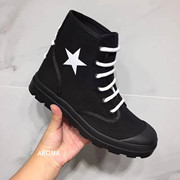 17 fw black spot Givenchy GVC five galaxies with high boots shoes male god help