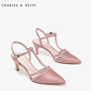 CHARLESKEITH shoes CK1-60300587 hollow retro with pointed heels kitten t