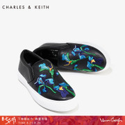 CHARLES& KEITH le fu shoes CK1-70930046 Xia Van Gogh joint Embroidered Floral thick bottom women shoe