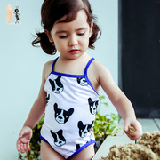 Sago girls love bug female swimsuit baby girl children swimwear swimsuit princess sister a puppy