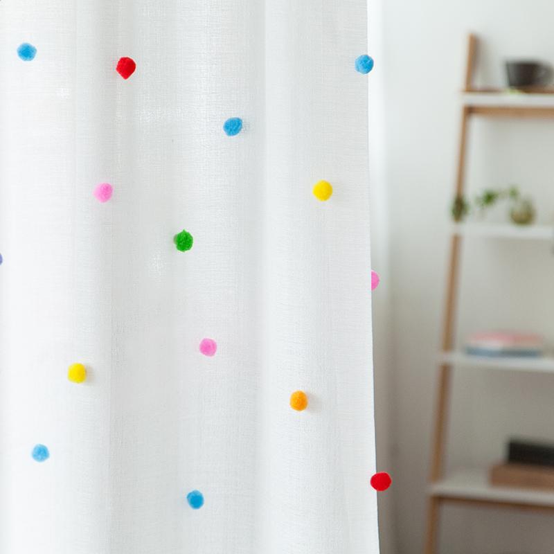窗帘装饰卡通毛球田园风 儿童房间装饰小毛球 糖果色毛球20颗一包