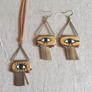 KickyMe hippie manual original accessories recommended the Tutankhamun series eyes necklace of Egypt