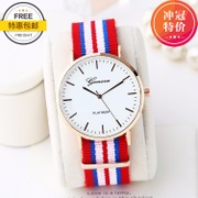 Lovers of Korean stylish fashion leisure men's canvas all-match quartz watch watch students watch