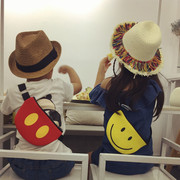 Chao Tong Korean fan children bag Crossbody Bag bag bag chest pocket baby face mobile phone decorative bag purse