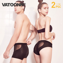Couples panties suit cotton low waist hot transparent men's boxer sexy ice silk fun hollow ladies triangle