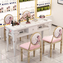 Nail Table Simple Modern Double Table and Chair Suit Single Small Simple Nail Table Double-deck Special Price Economy