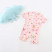 Foreign trade new baby girl Siamese Children's swimming suit cute sunscreen anti ultraviolet surf clothing Korea