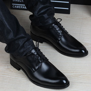 Winter youth men dress shoes with velvet lace warm male British Korean business men's casual shoes.