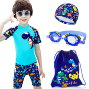 Boy boy children swimsuit swimming trunks suit the child body in small little dinosaur swimming cap baby sent South Korea