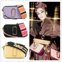 2018 original purchase marc jacobs camera bag mj handbags Song Jia with paragraph color mixed shoulder Messenger bag