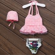 Split skirt girls swimsuit Princess swimsuit pupils child baby David 2017 new children's swimwear