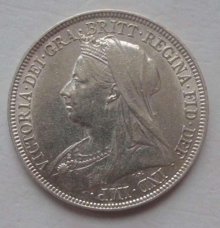 United Kingdom 1896 1 shilling silver coin 9 (Vitoria)