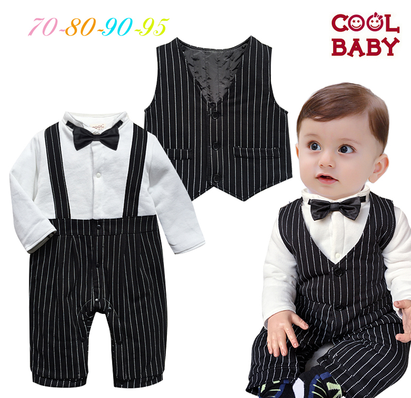 0-3-6 months baby boy in autumn and winter clothes peg gentleman ha cotton baby full moon one hundred days old dress