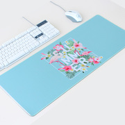 Flamingo cute creative mouse pad waterproof padded seaming skid desk pad King size keyboard mat