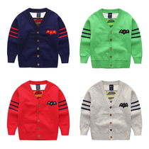 Boys sweater Cardigan spring 2017 new spring and autumn baby 2-3-5 old Korean v-neck children sweater coat