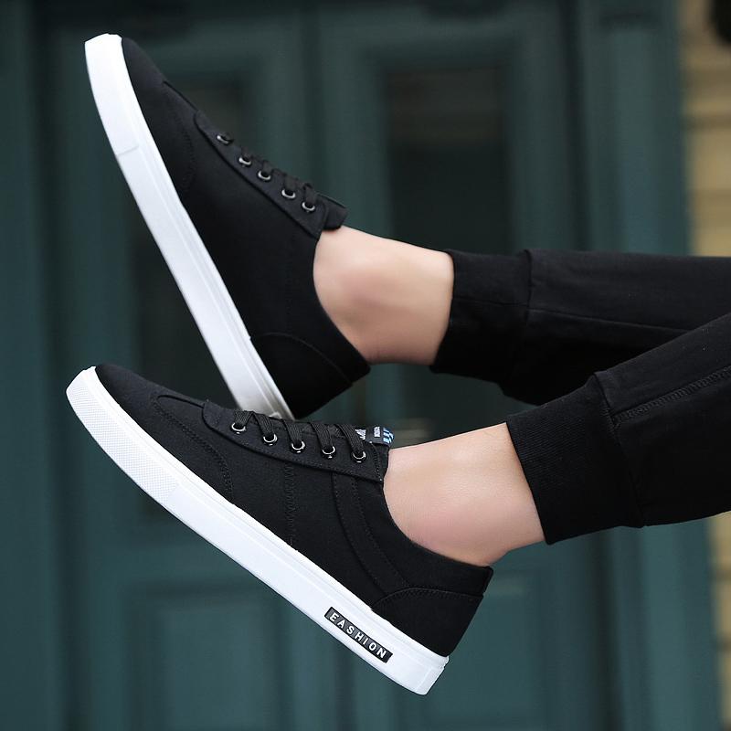 2017新款冬季男鞋子潮鞋秋季韩版小白鞋百搭帆布鞋休闲鞋棉鞋板鞋