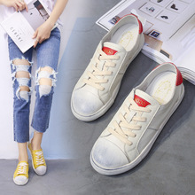 Hongkong IT purchasing autumn white shoe leather leather all-match Korean Ladies do old a small dirty shoes shoes tide