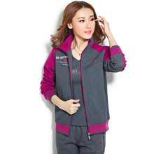 The flagship store brand promotion in the elderly sportswear suit female sport clothing three sets of relaxed leisure set