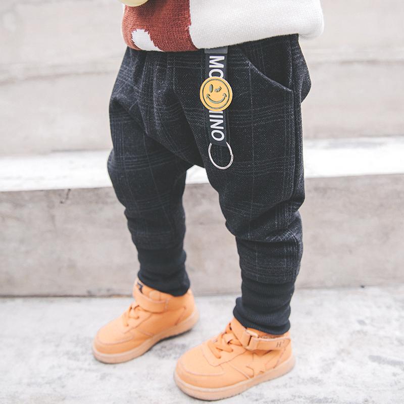 男童加绒加厚棉裤宝宝裤子冬男冬季儿童长裤小童冬装男宝宝加绒裤