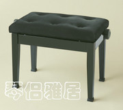 Itomasa exported to Japan an black flannel straight foot lifting piano stool solid wood chair