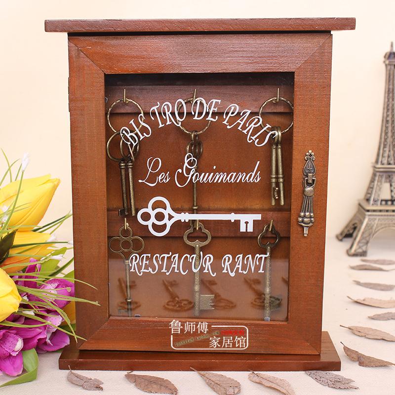 门口钥匙挂钩壁挂置物架进门收纳盒玄关门厅挂钥匙架墙上创意箱柜