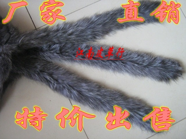 Special offer top hat cap promotion fox silver fox fur collar wool cuff shoes wholesale silver fox do