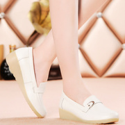 Casual white nurse shoes slope with tendon at the end of nurses work shoes beautician shoes mom shoes breathable and comfortable