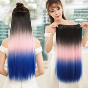 Seven color card wig lady five straight piece seamless hair extensions an invisible hair piece vivid highlights