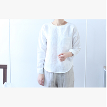 Autumn pure linen shirt jacket when season female wear linen shirt washed linen shirt all-match temperament