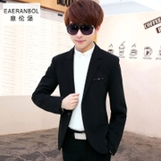 Young small suit men s casual Slim small suit men's shirt jacket with fleece thick autumn tide