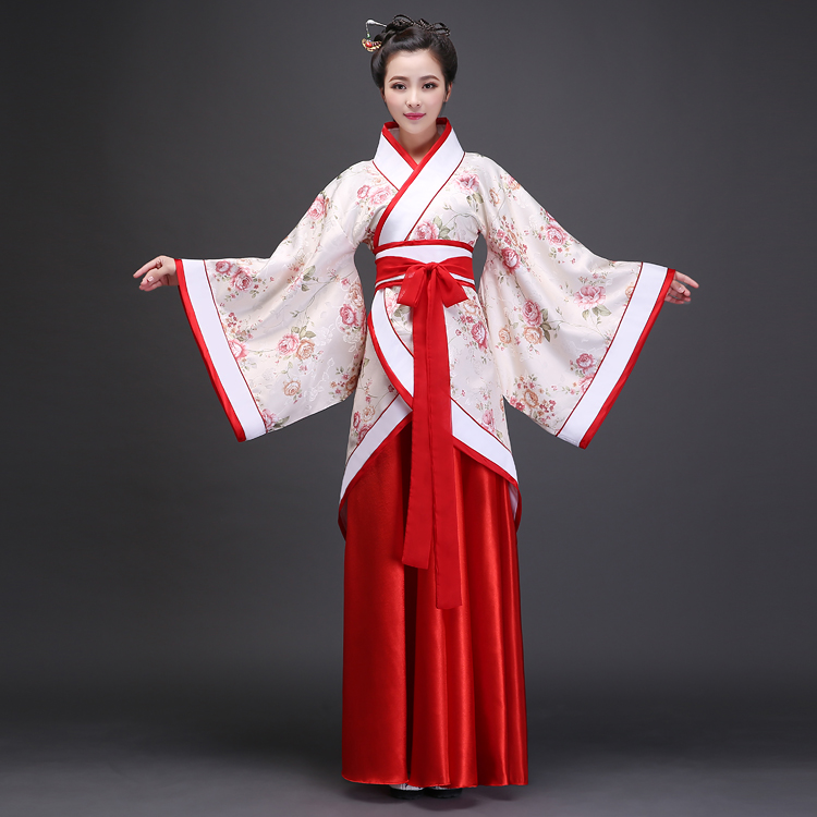 Hanfu woman, improved Chinese wind, ancient costume, retro student, suit, daily wind, costume, Han Dynasty, wedding dress